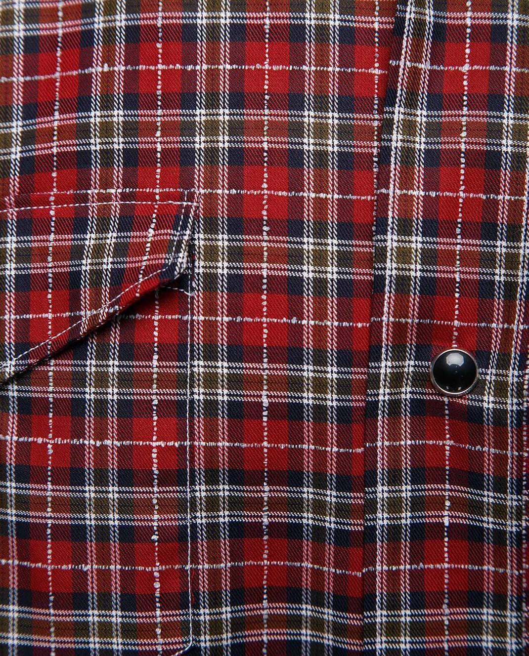 Eleventy Красная рубашка из египетского хлопка 979CA0056CAM24022 изображение 5
