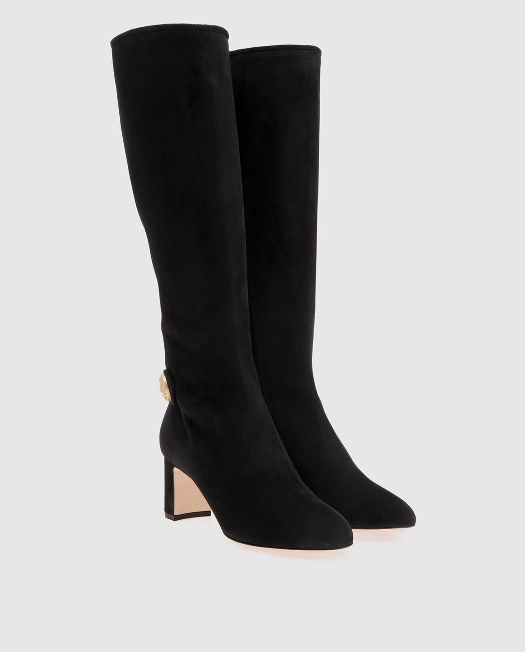 Dolce&Gabbana Черные замшевые сапоги CU0397A1275 изображение 2