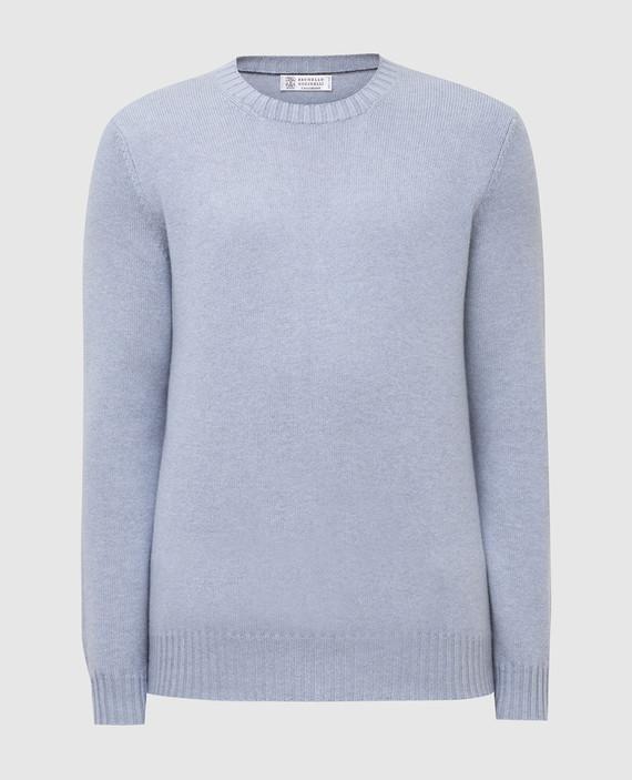 Голубой свитер из кашемира