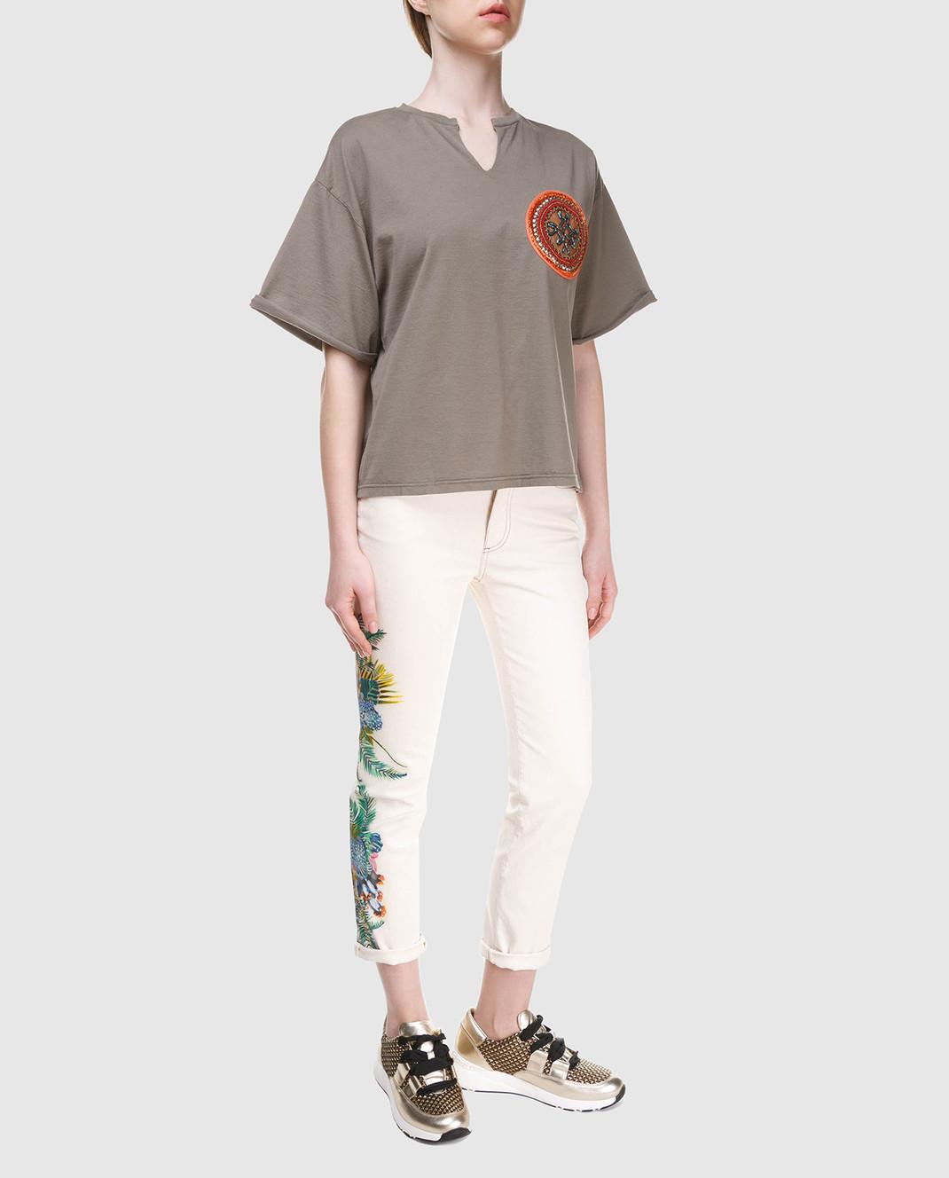 Mr&Mrs Italy Белые джинсы JE091E изображение 2