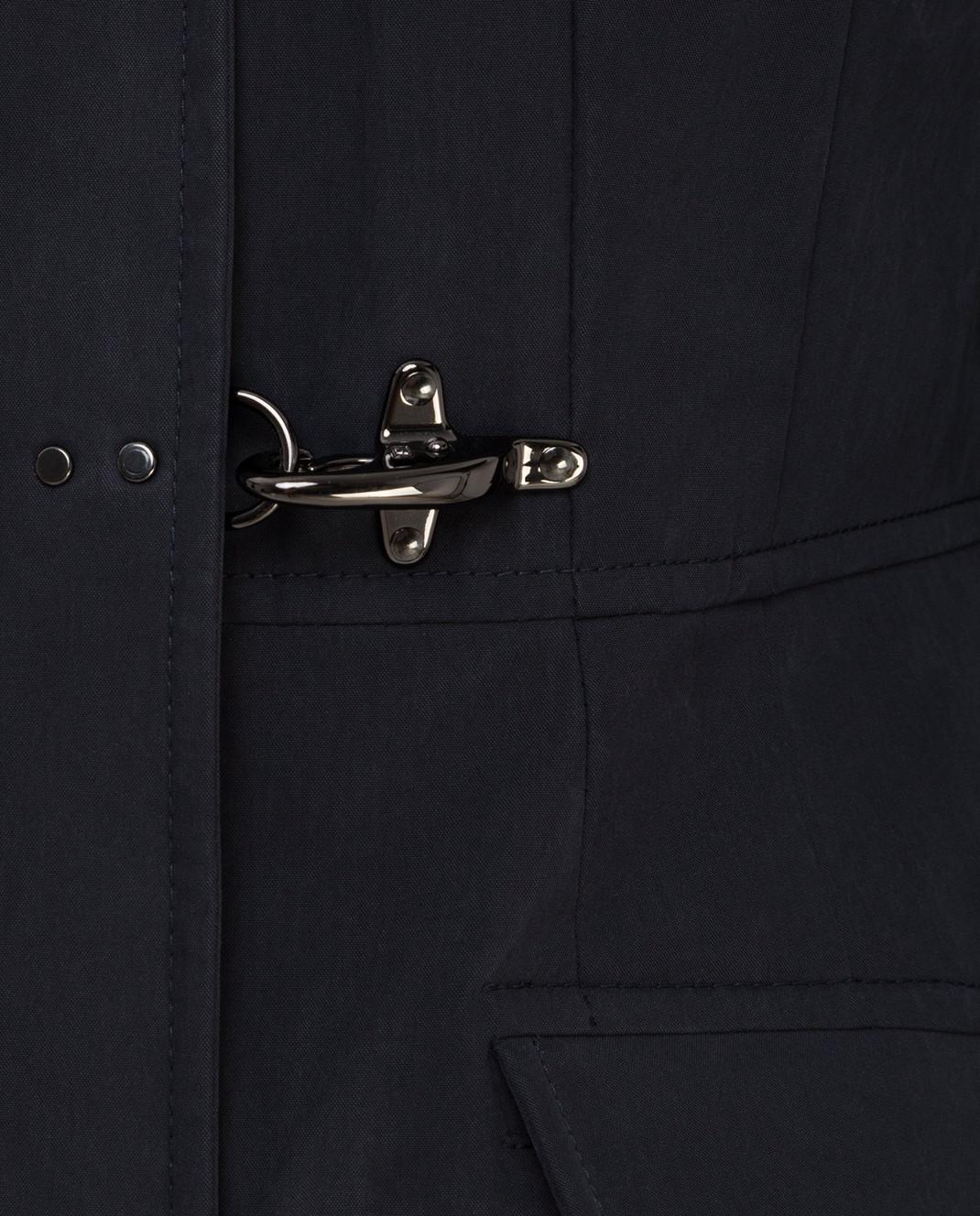 FAY Темно-синий пуховик с мехом сурка NAW3433349UNGU изображение 5
