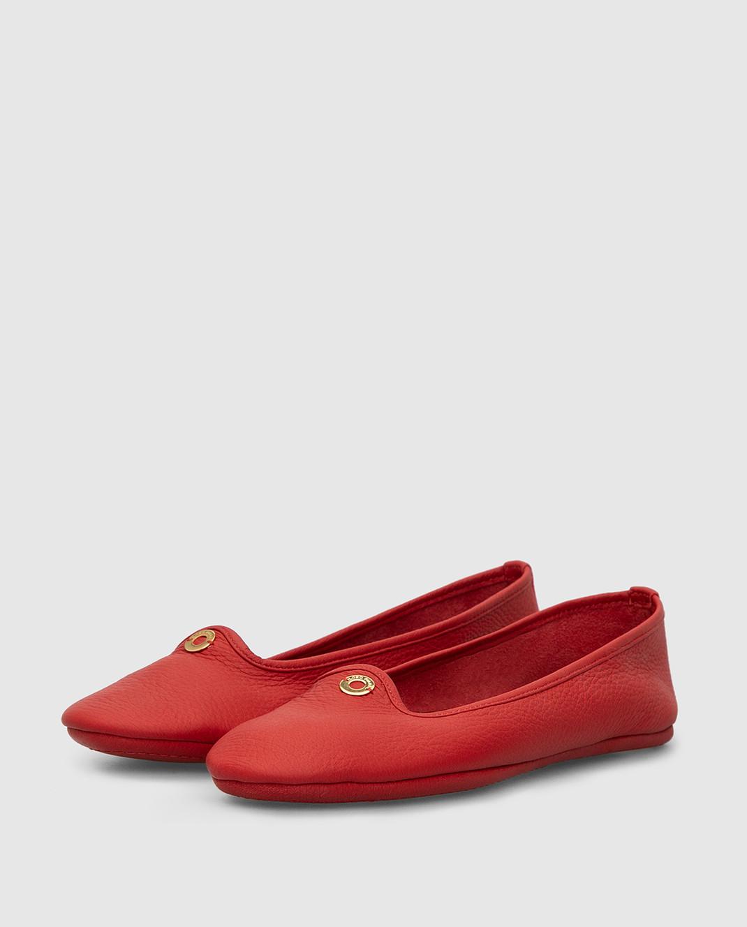 Loro Piana Красные кожаные балетки F3FAF8837 изображение 3