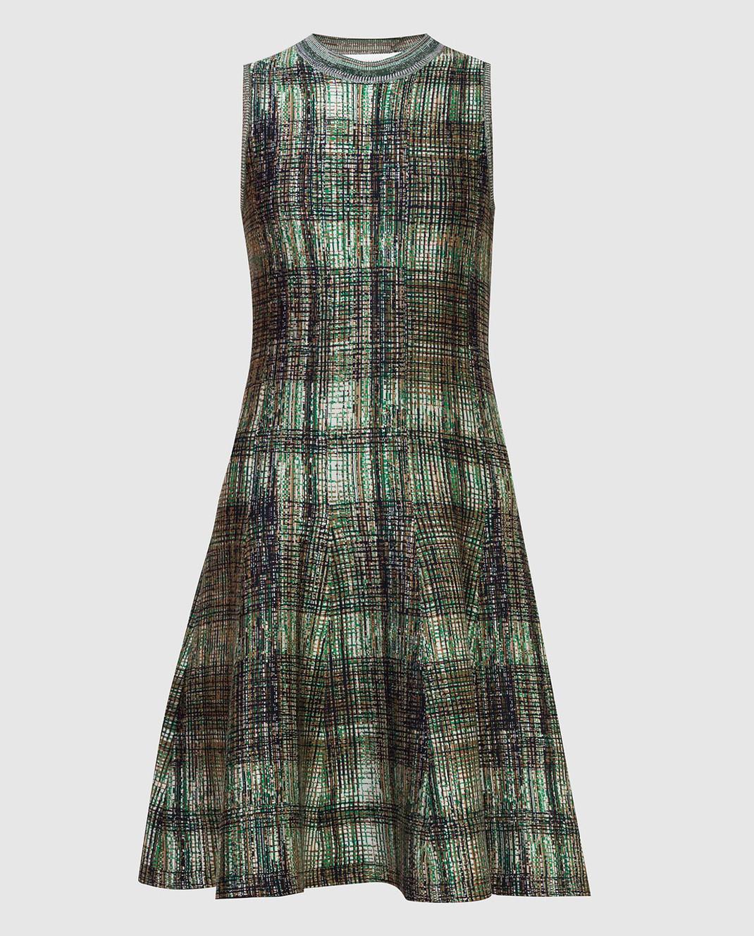 Victoria Beckham Платье из шелка и шерсти DRKNT6455