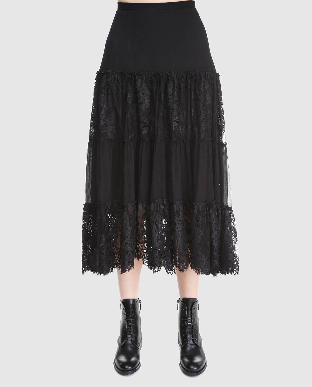 Ralph Lauren Черная юбка из шелка 211670984 изображение 3