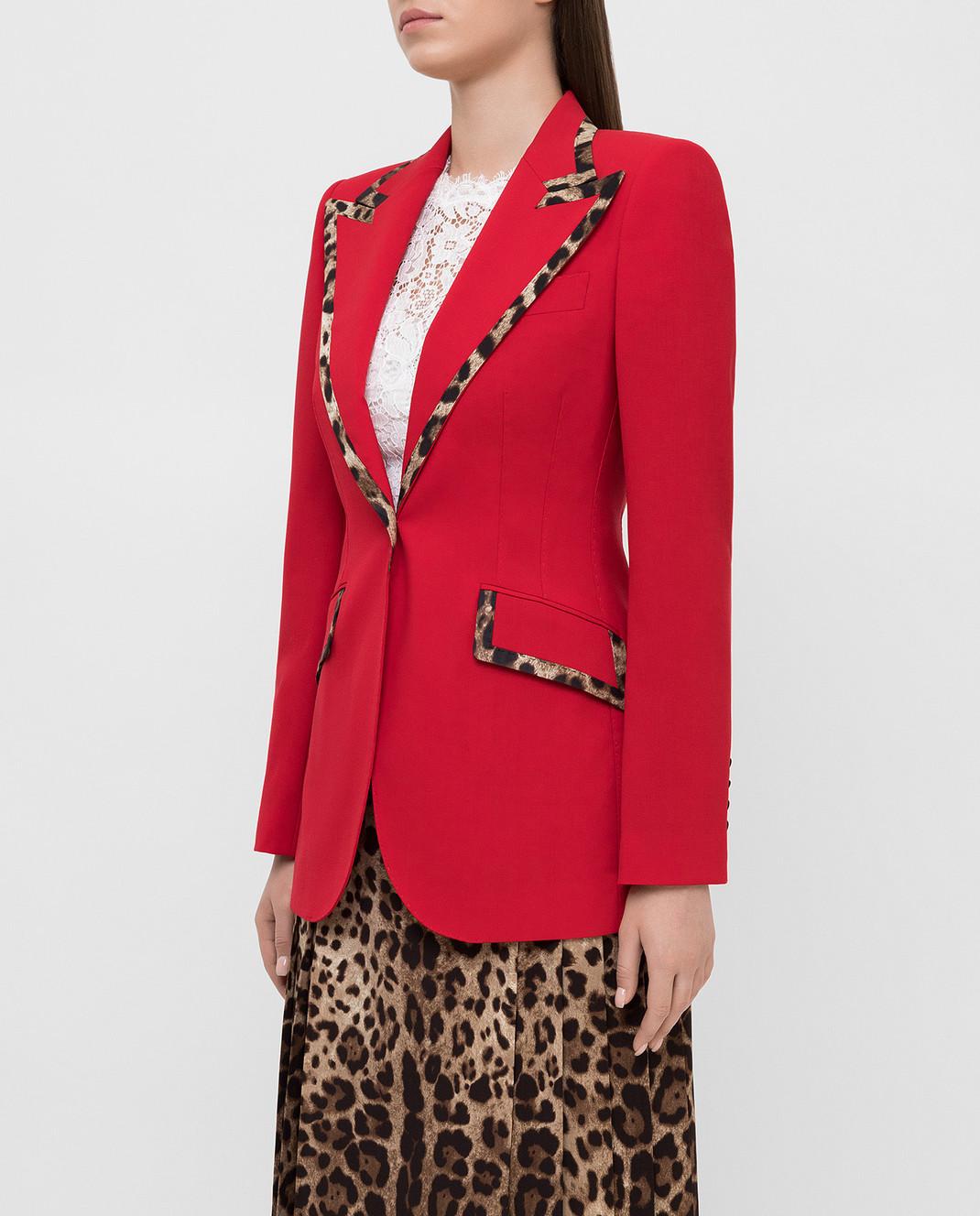 Dolce&Gabbana Красный жакет из шерсти изображение 3
