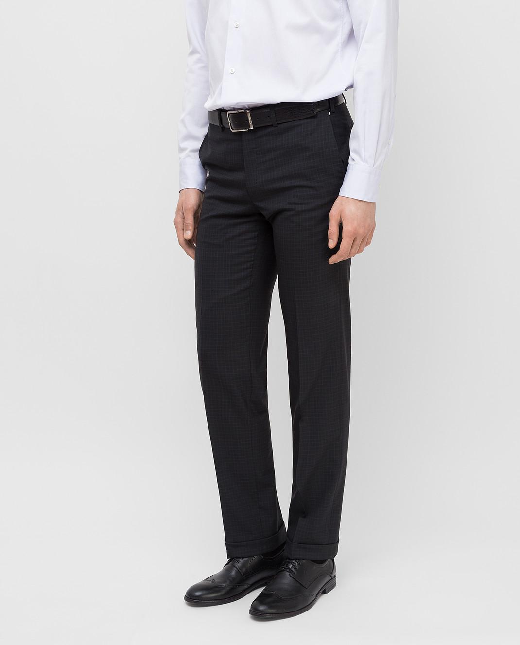 Brioni Темно-серые брюки из шерсти RPL80LP5A71 изображение 3