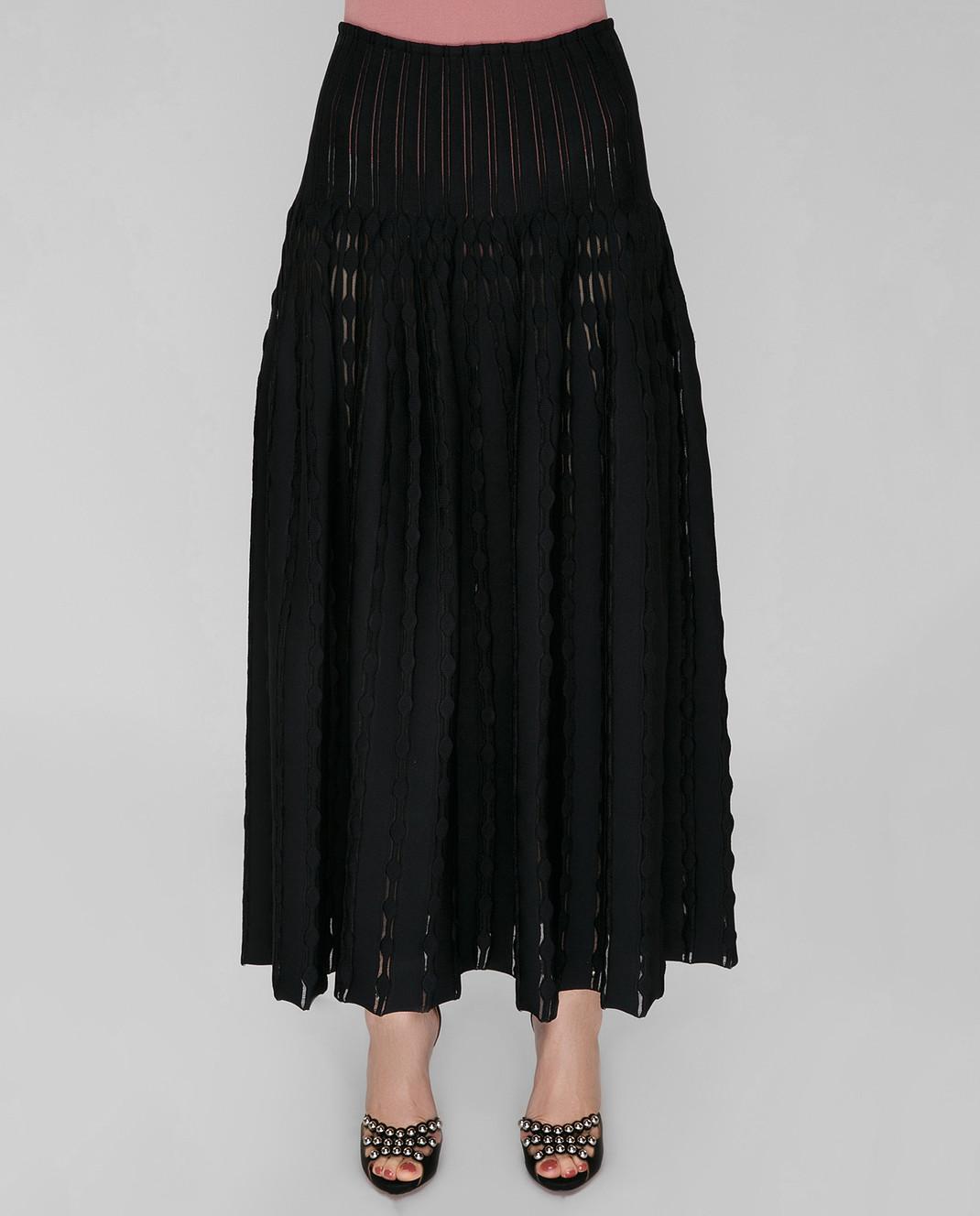 Azzedine Alaia Черная юбка 7S9JC55LM297 изображение 2