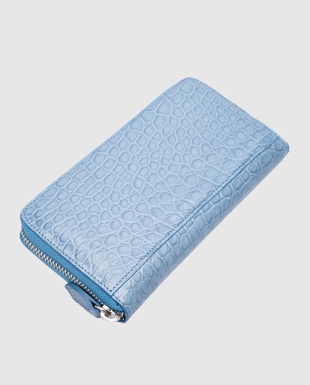 Bochicchio Голубой кожаный кошелек изображение 3