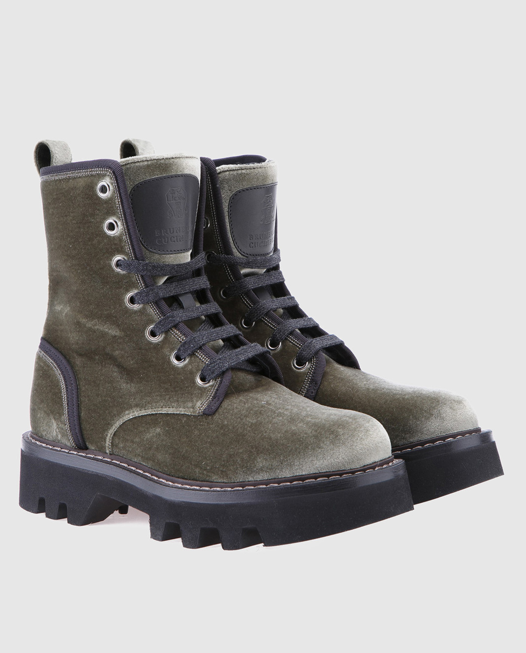 Brunello Cucinelli Зеленые ботинки MZ72G1002 изображение 2