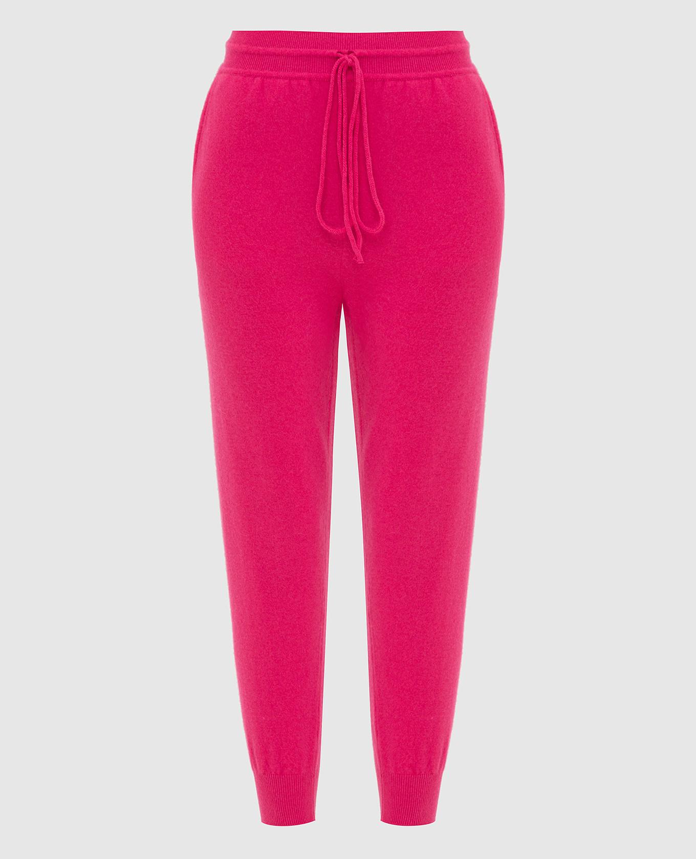 Малиновые спортивные брюки