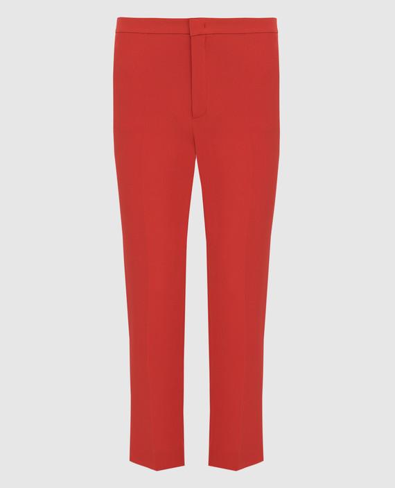 Красные брюки из шелка