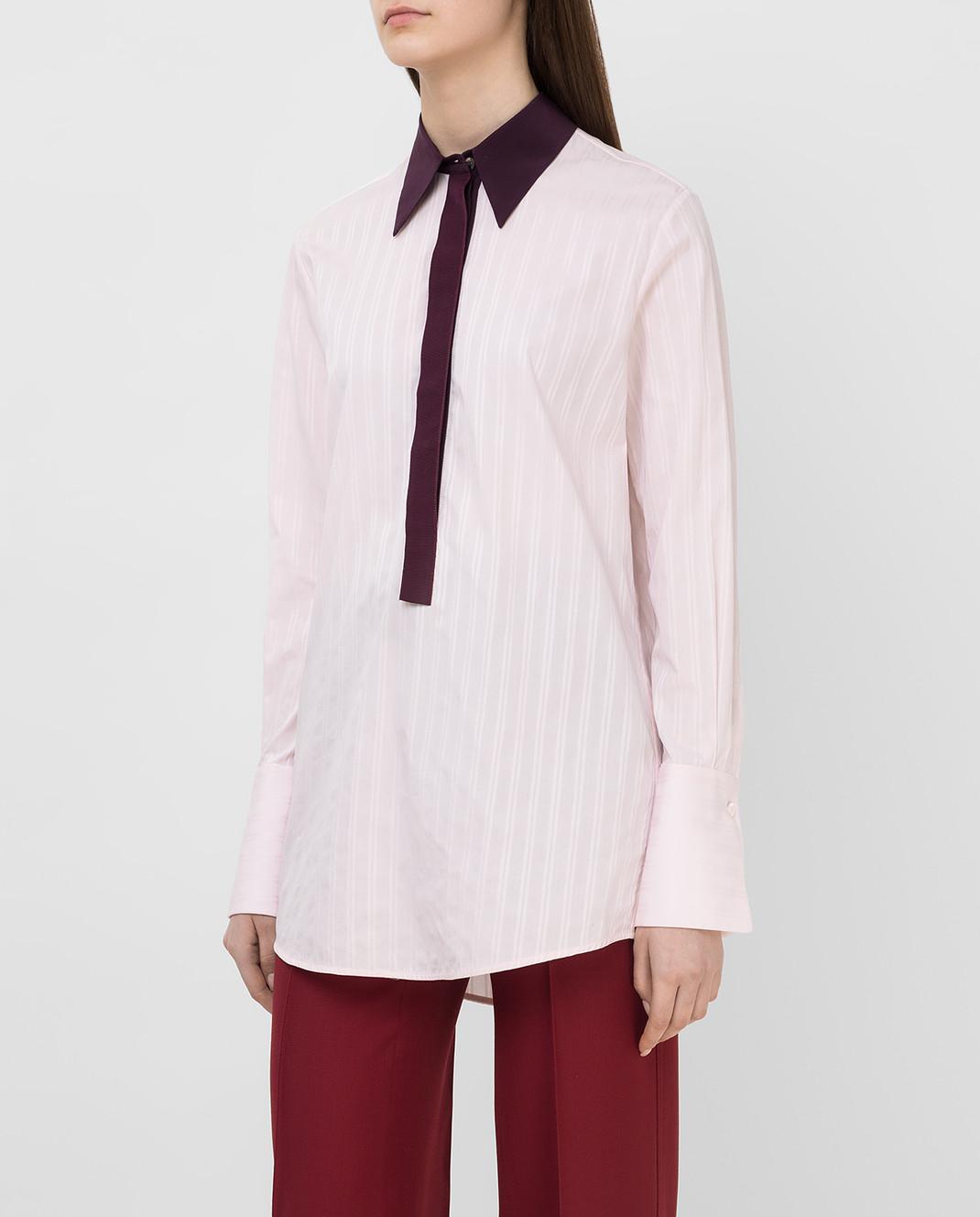 Victoria by Victoria Beckham Розовая рубашка SHVV117 изображение 3
