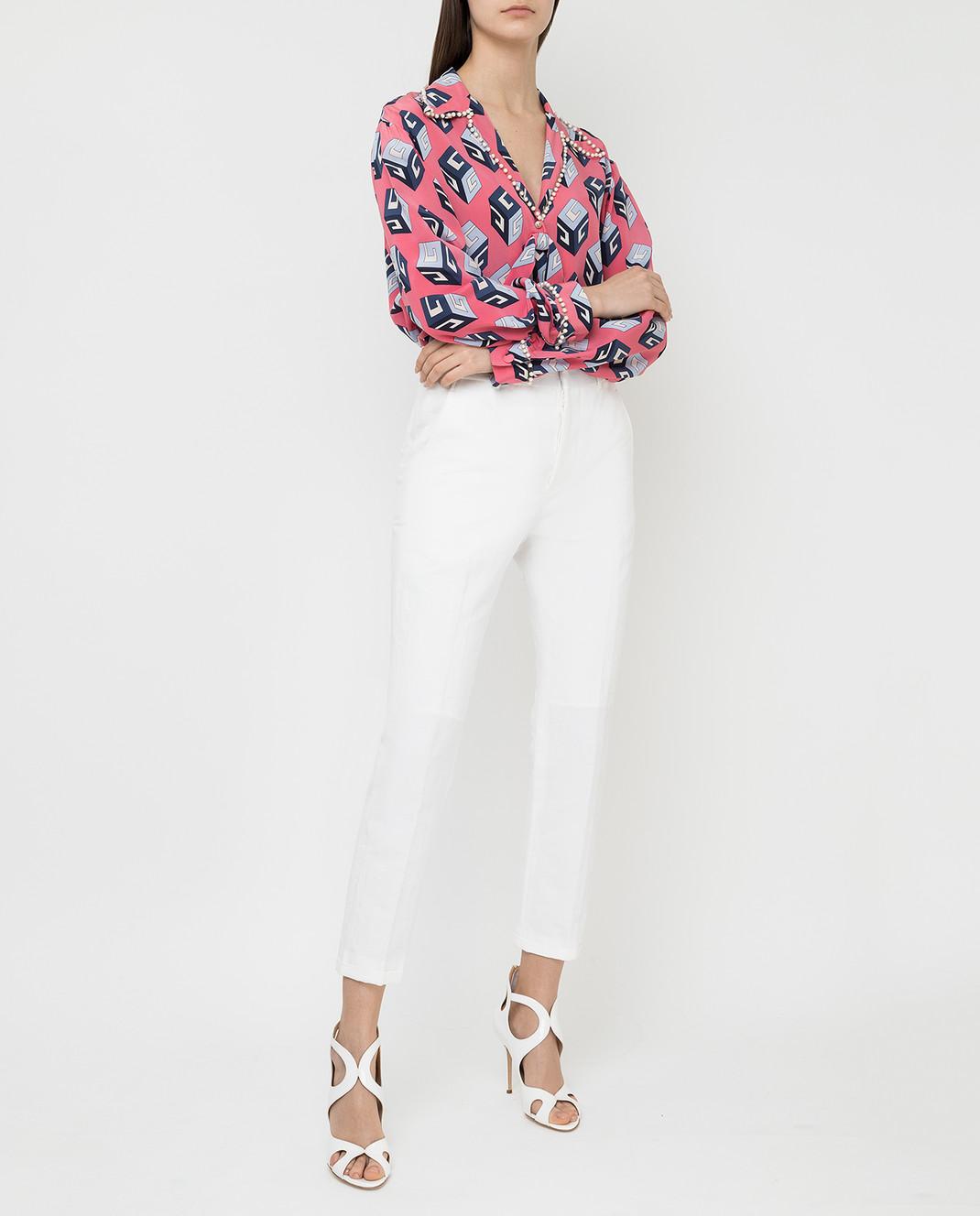 Marni Белые брюки PAMAR09MU1TL234 изображение 2