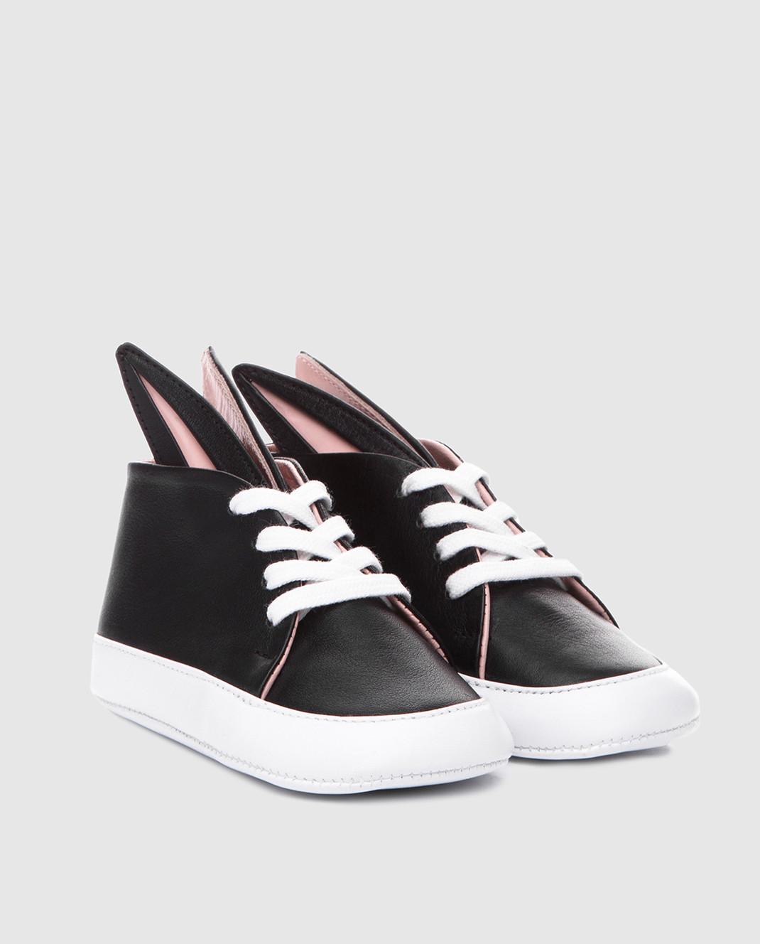 Детские черные ботинки Minna Parikka BABYBUNNIES — Symbol