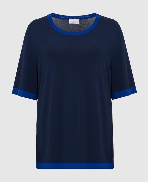 Темно- синий джемпер