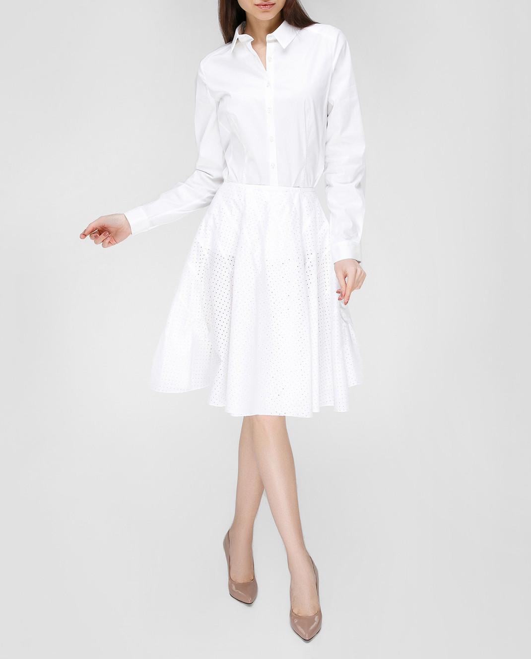 Azzedine Alaia Белая юбка 7S9J144RTL48 изображение 2