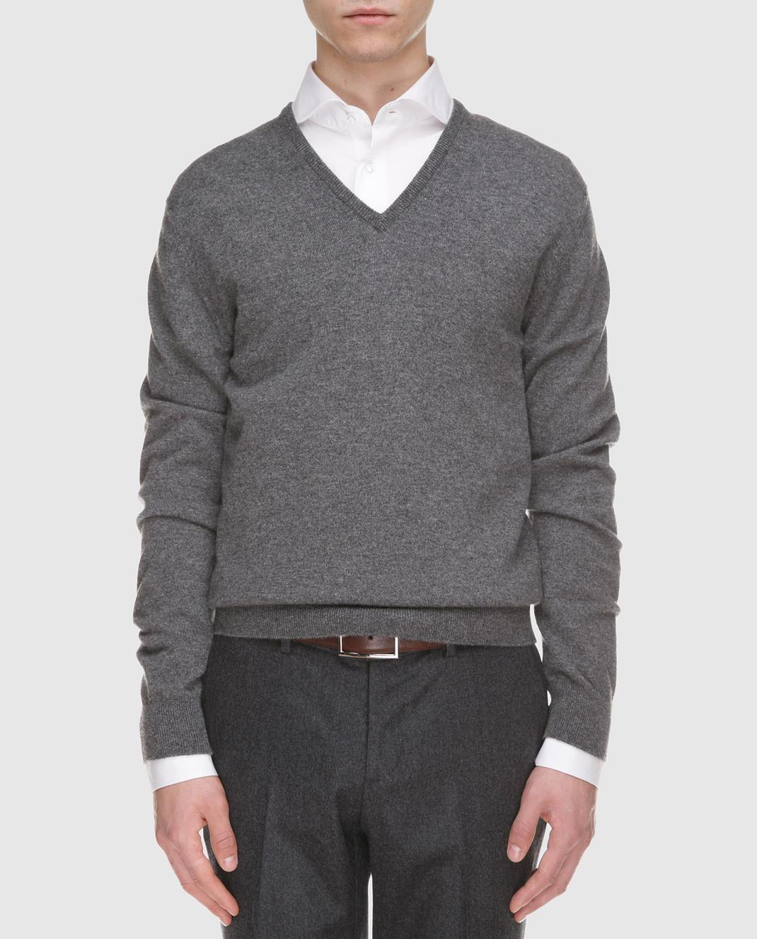 Johnstons Серый пуловер из кашемира KAL03406 изображение 3