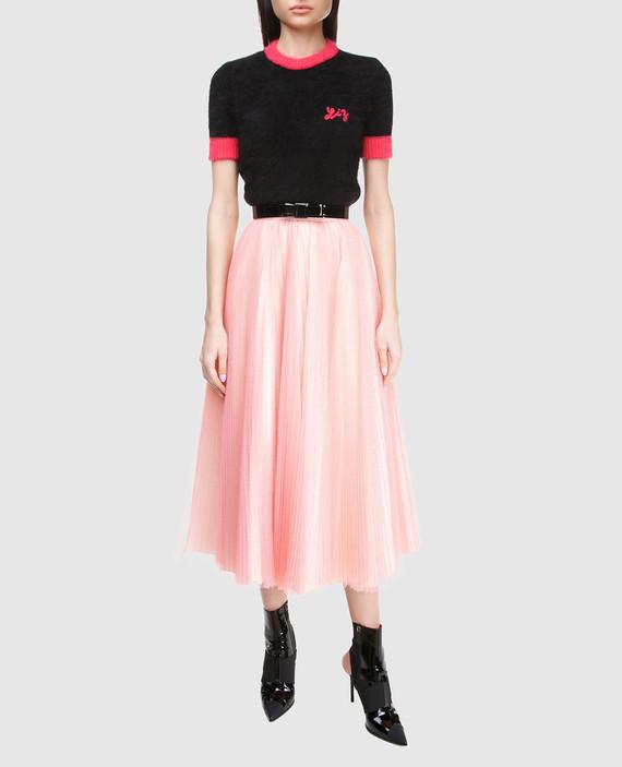 Розовая юбка hover