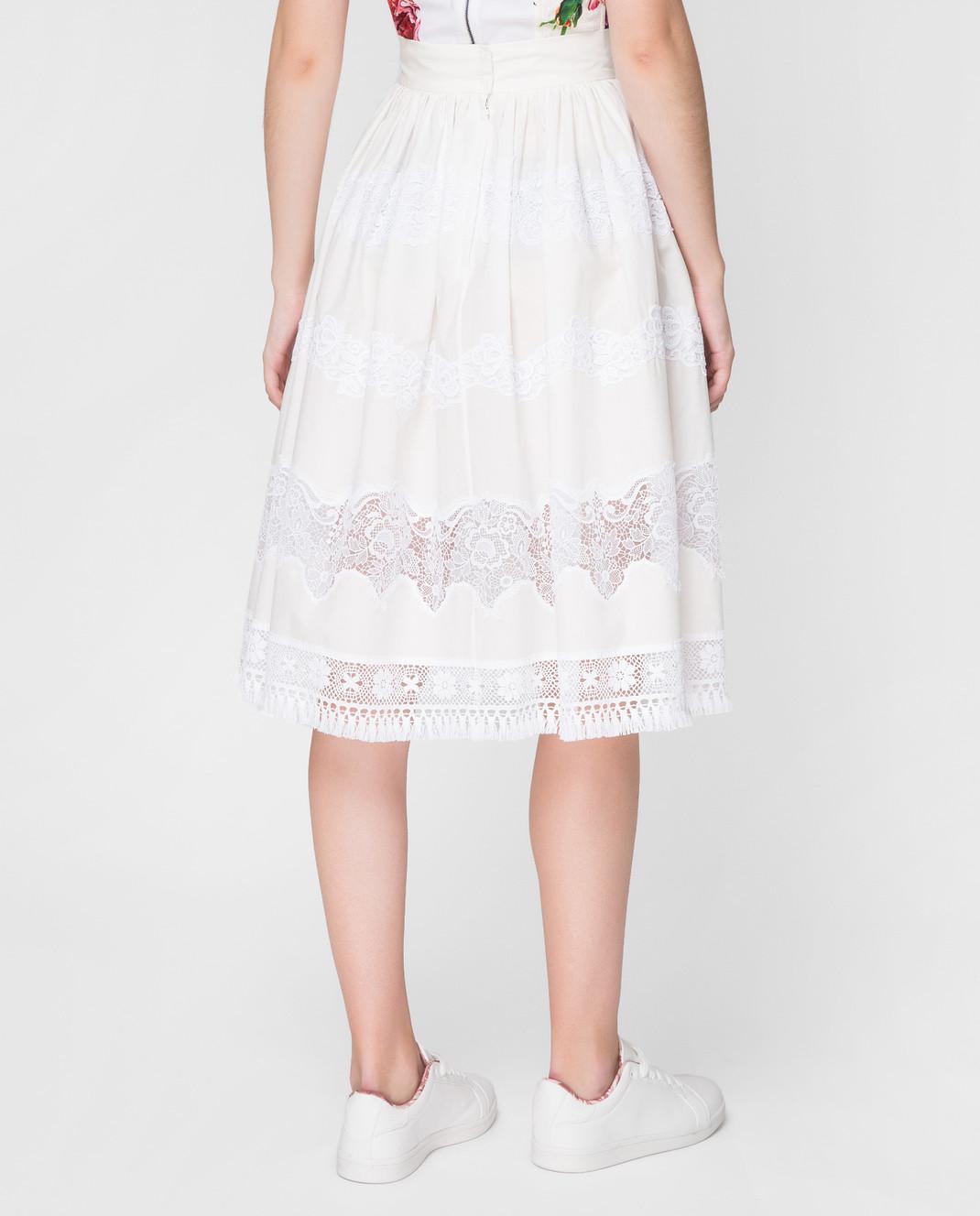 Dolce&Gabbana Белая юбка F4BC7TFU5L5 изображение 4