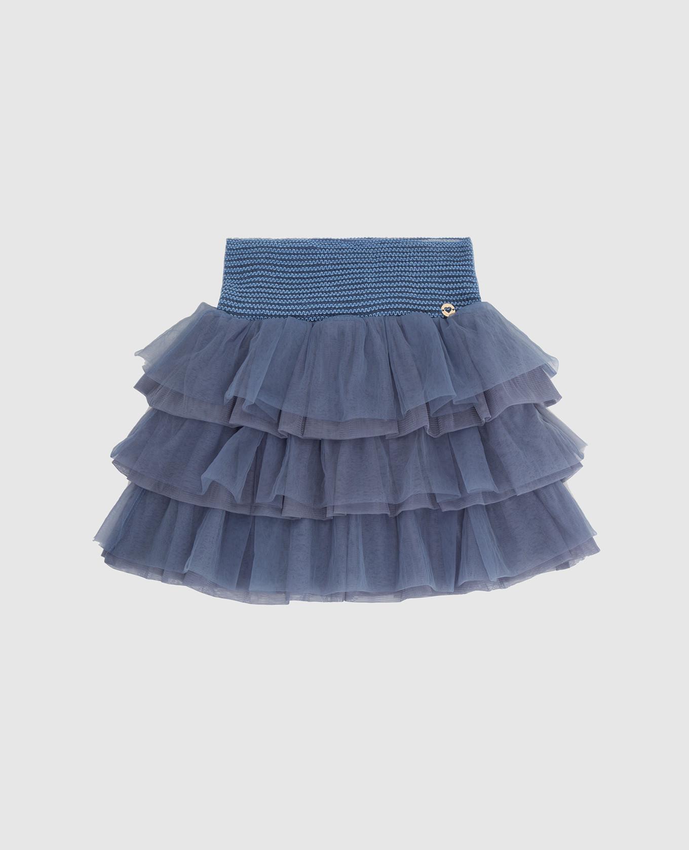 Детская голубая юбка