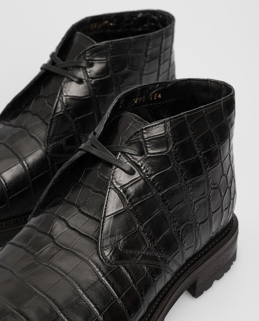 Del Dami Черные дезерты из кожи крокодила на меху 3492 изображение 5