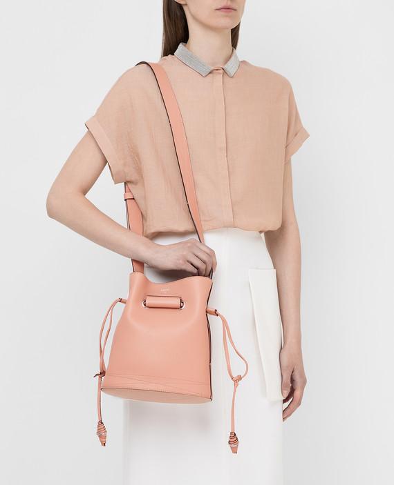 """Розовая кожаная сумка """"Huit """" hover"""