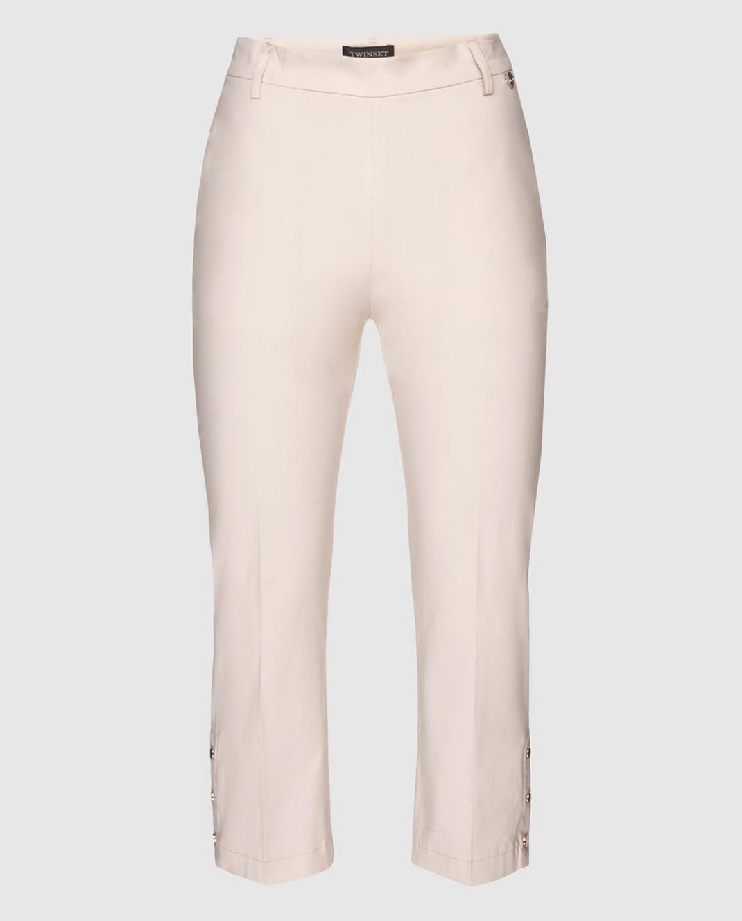 Twin Set Бежевые брюки изображение 1