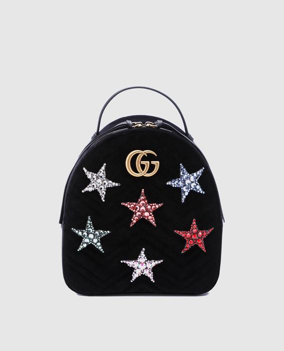 Черный бархатный рюкзак Marmont