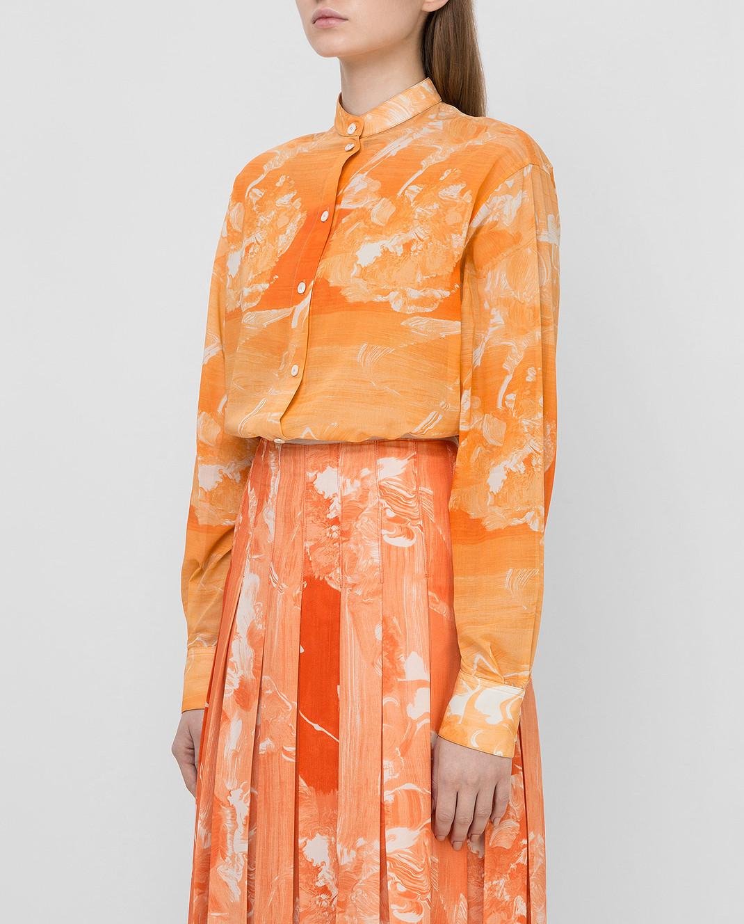 Victoria Beckham Оранжевая рубашка SHLNG1354E изображение 3