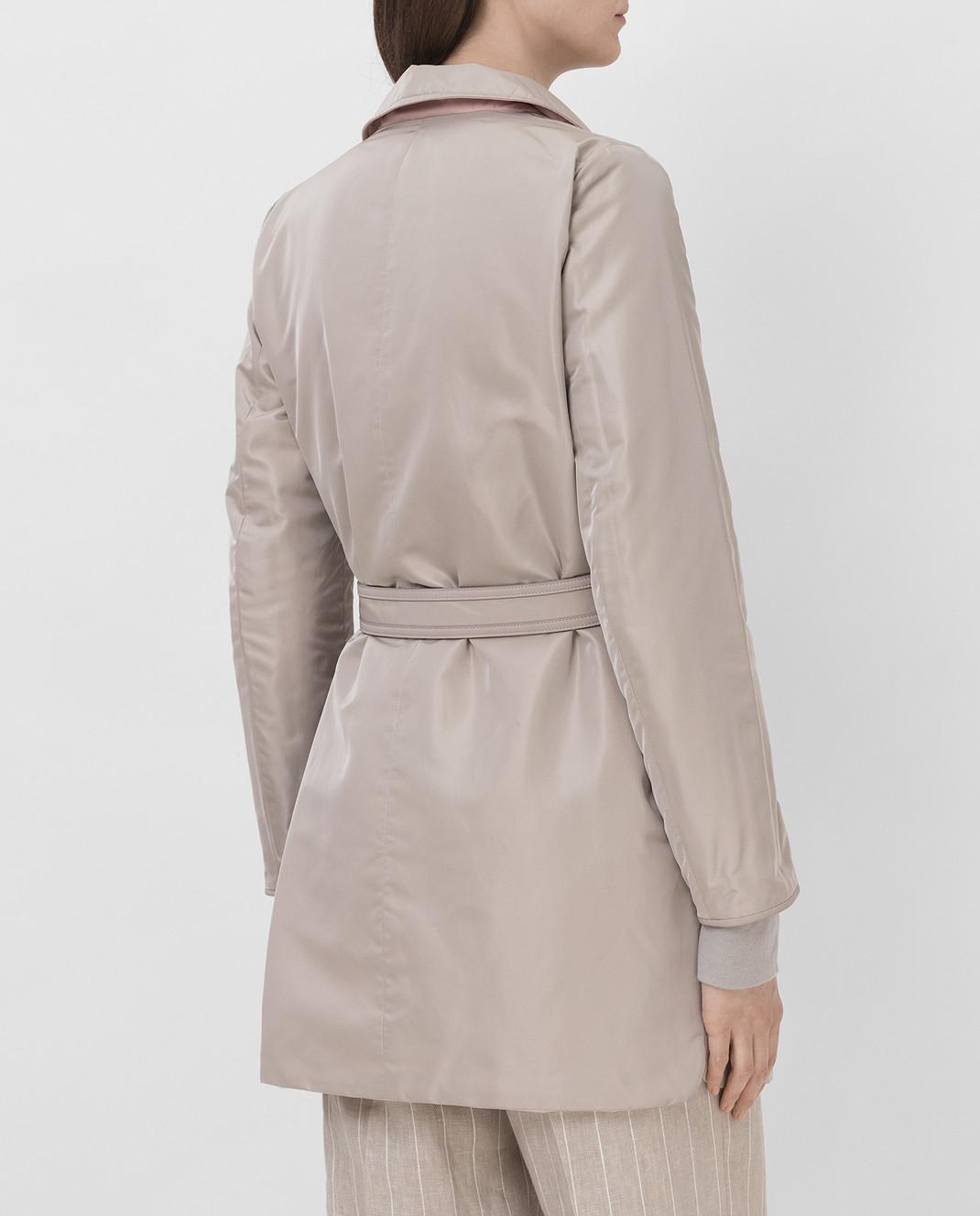 Loro Piana Двусторонняя куртка с воротником из меха лисицы F1FAI2541 изображение 4