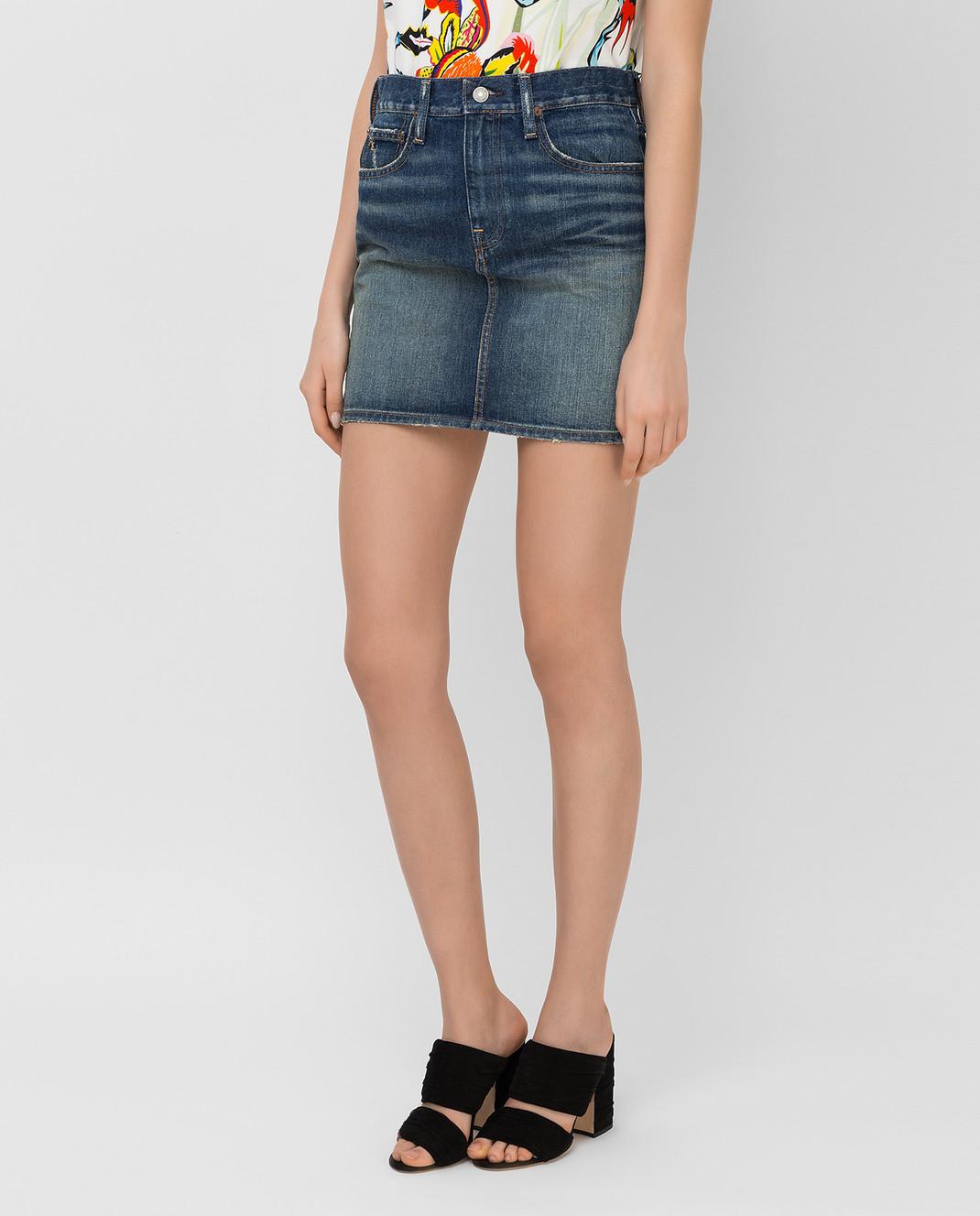 Ralph Lauren Синяя джинсовая юбка V60IH924 изображение 3