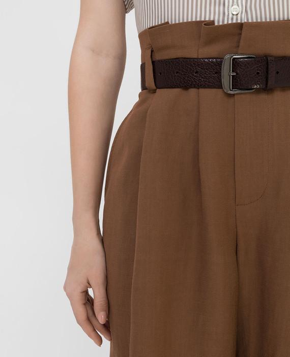 Темно-коричневый кожаный ремень hover