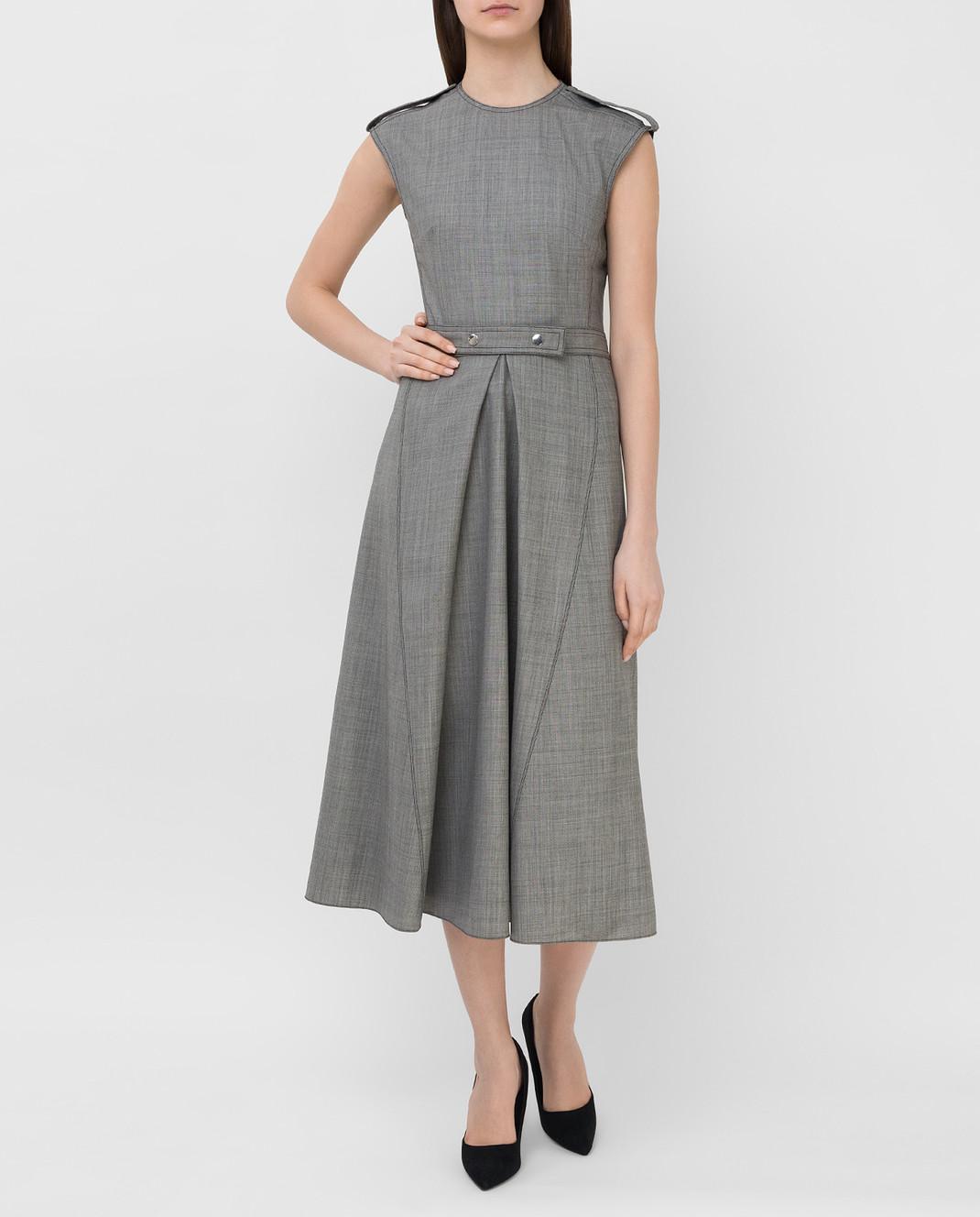 Victoria Beckham Серое платье из шерсти DRMID6602 изображение 2