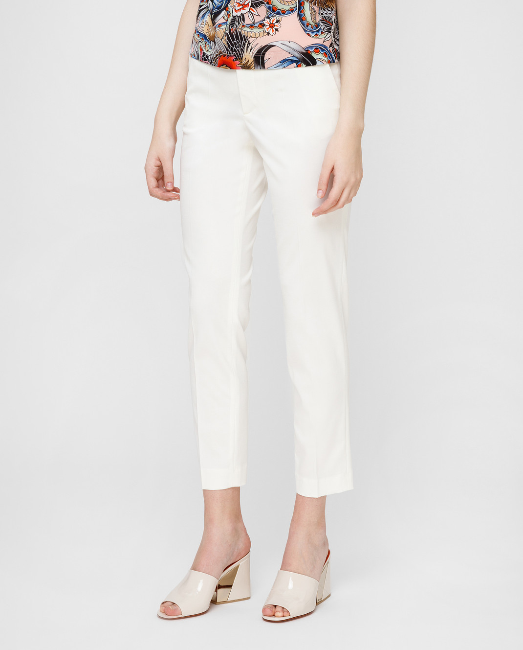 Red Valentino Белые брюки RR3RB0B0WBP изображение 3