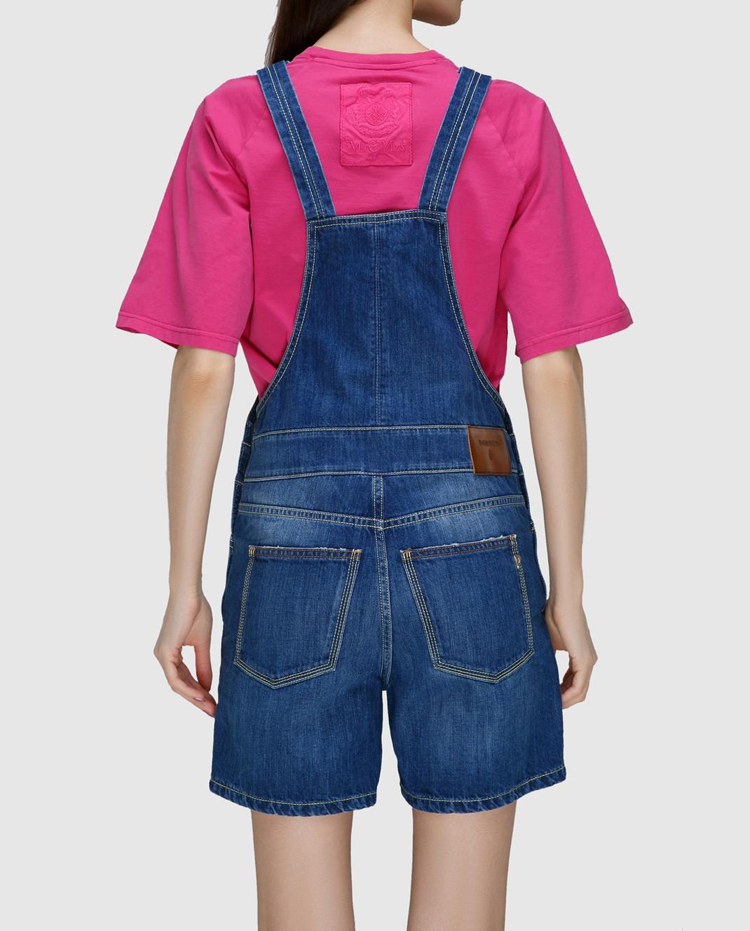 Dondup Синий джинсовый комбинезон DP229 изображение 4