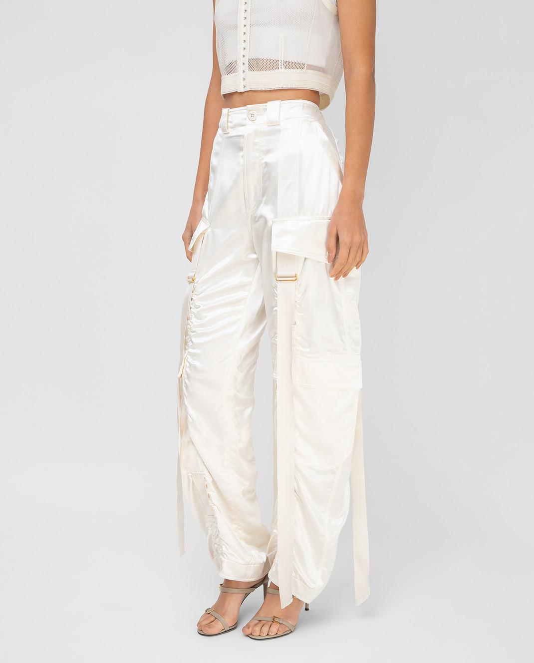Balenciaga Светло-бежевые брюки изображение 3
