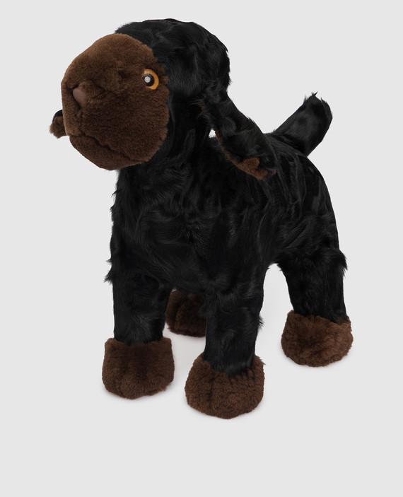 Детская черная игрушка овечка hover