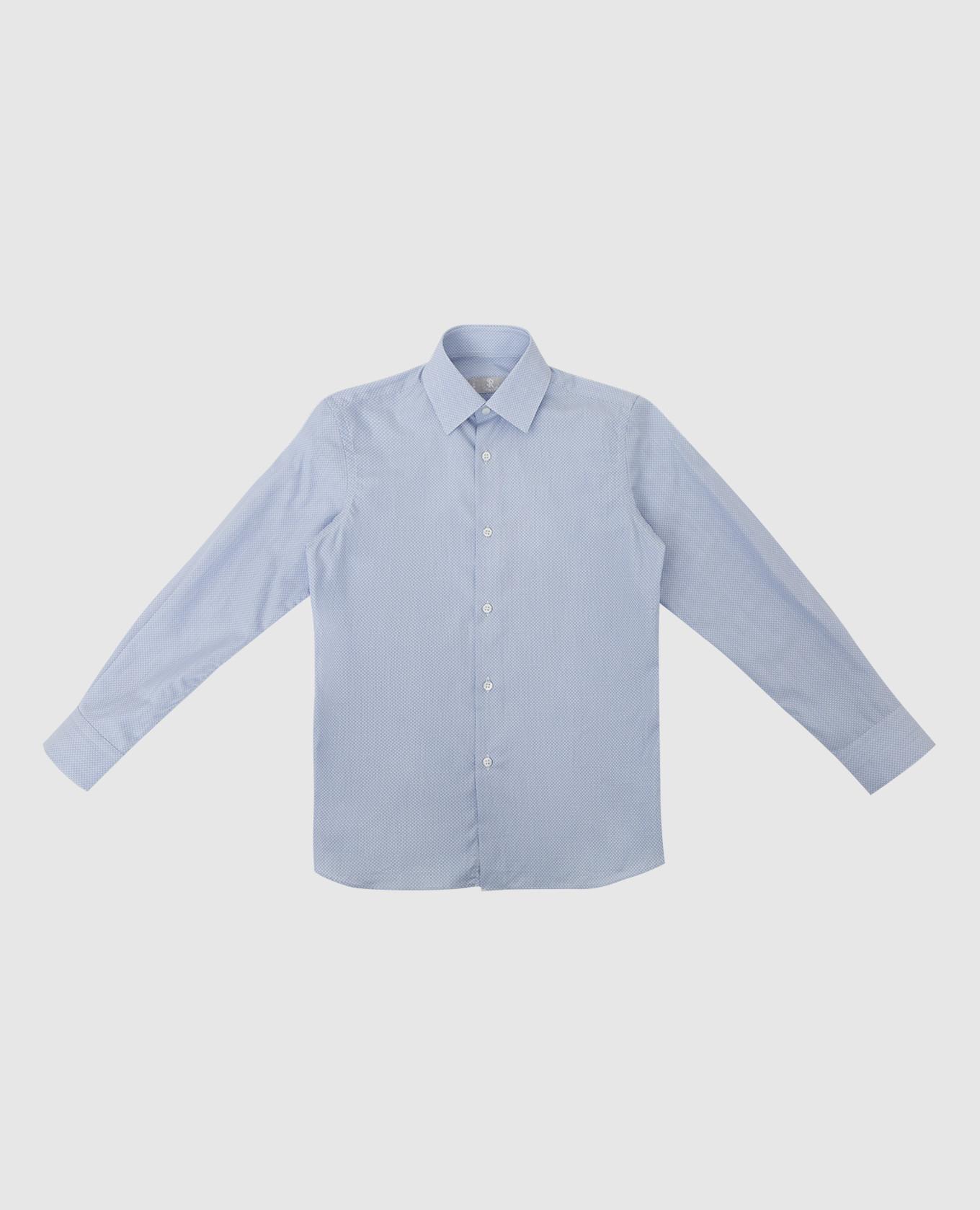 Детская светло-синяя рубашка Stefano Ricci