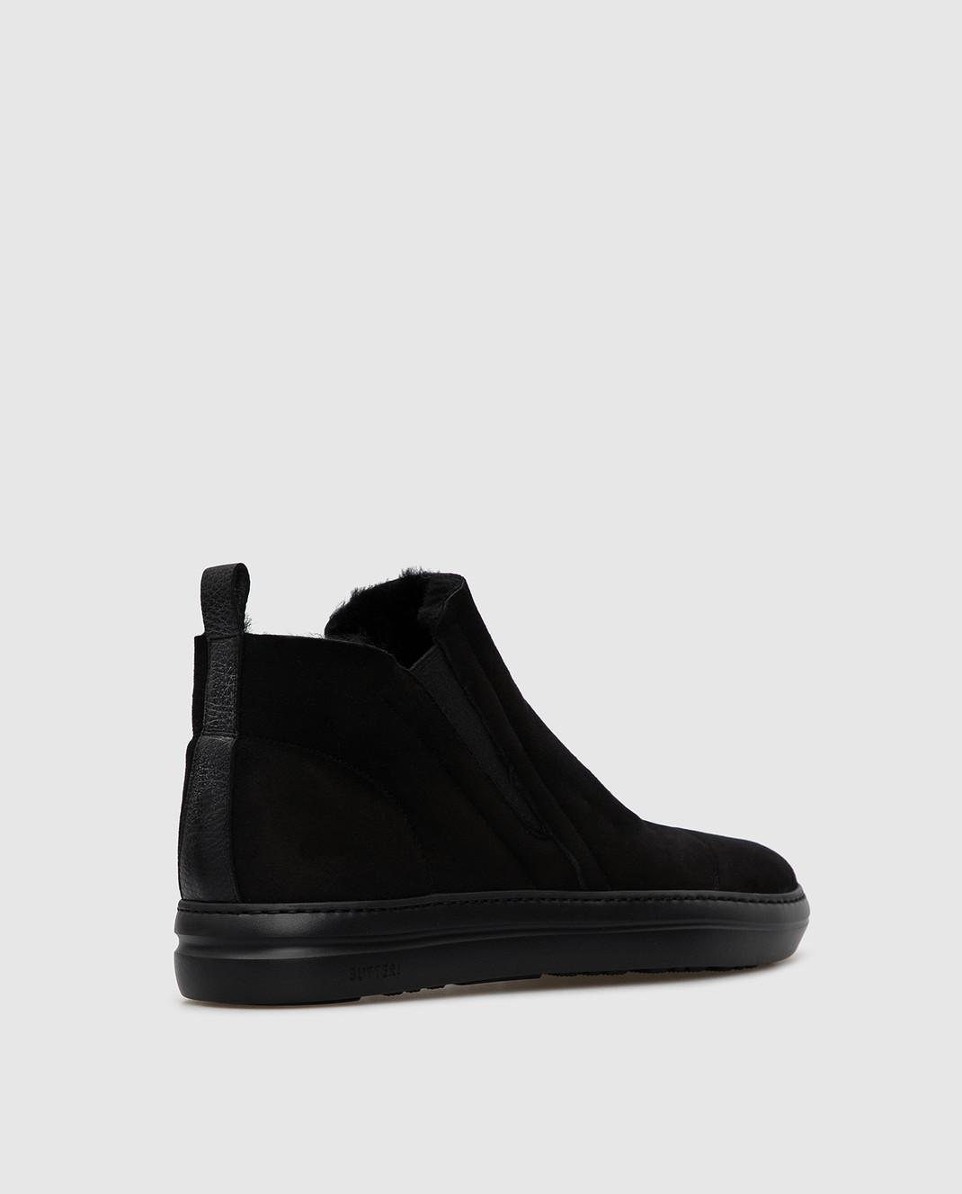 Gianfranco Butteri Черные замшевые ботинки на меху изображение 4