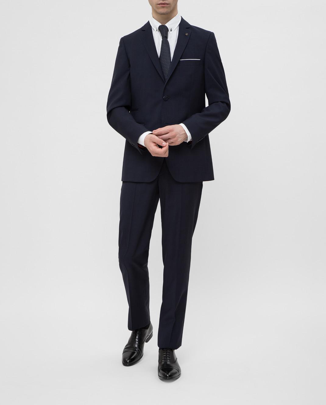 Florentino Темно-синий костюм из шерсти изображение 2