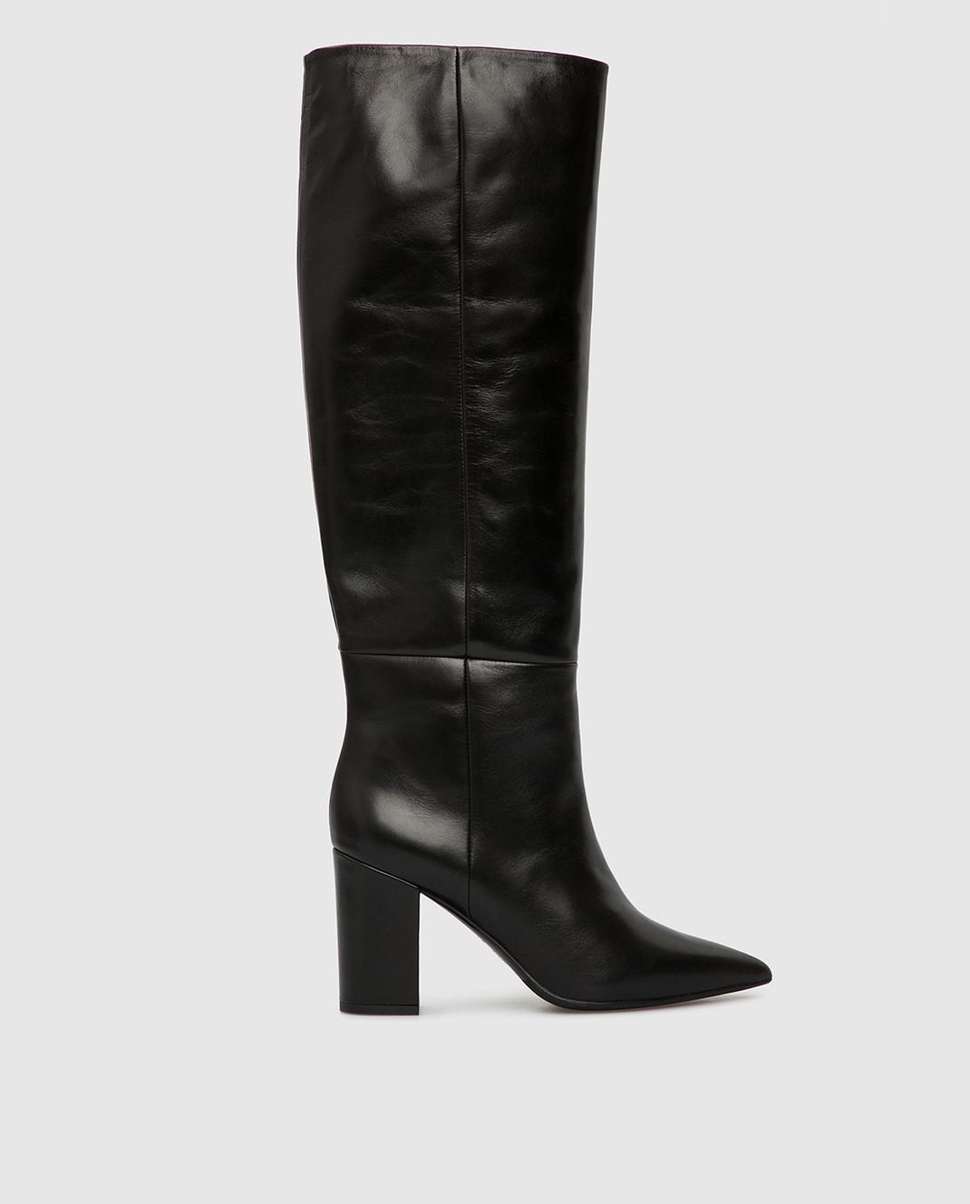 Babe Pay Pls Черные кожаные сапоги изображение 1