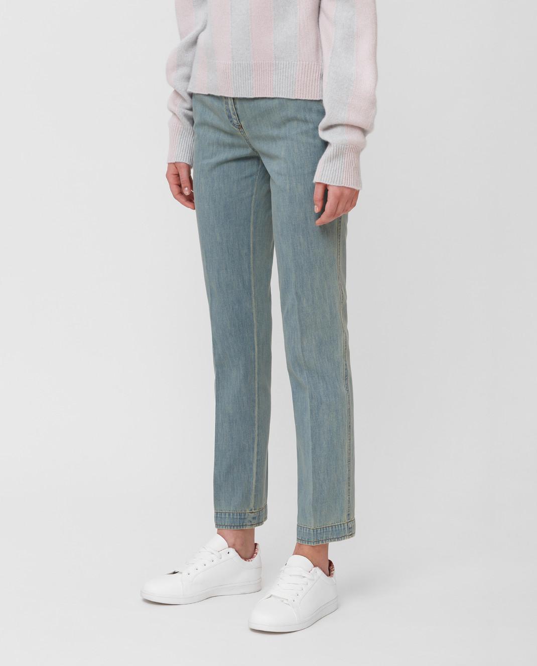 Bottega Veneta Голубые джинсы 545211 изображение 3