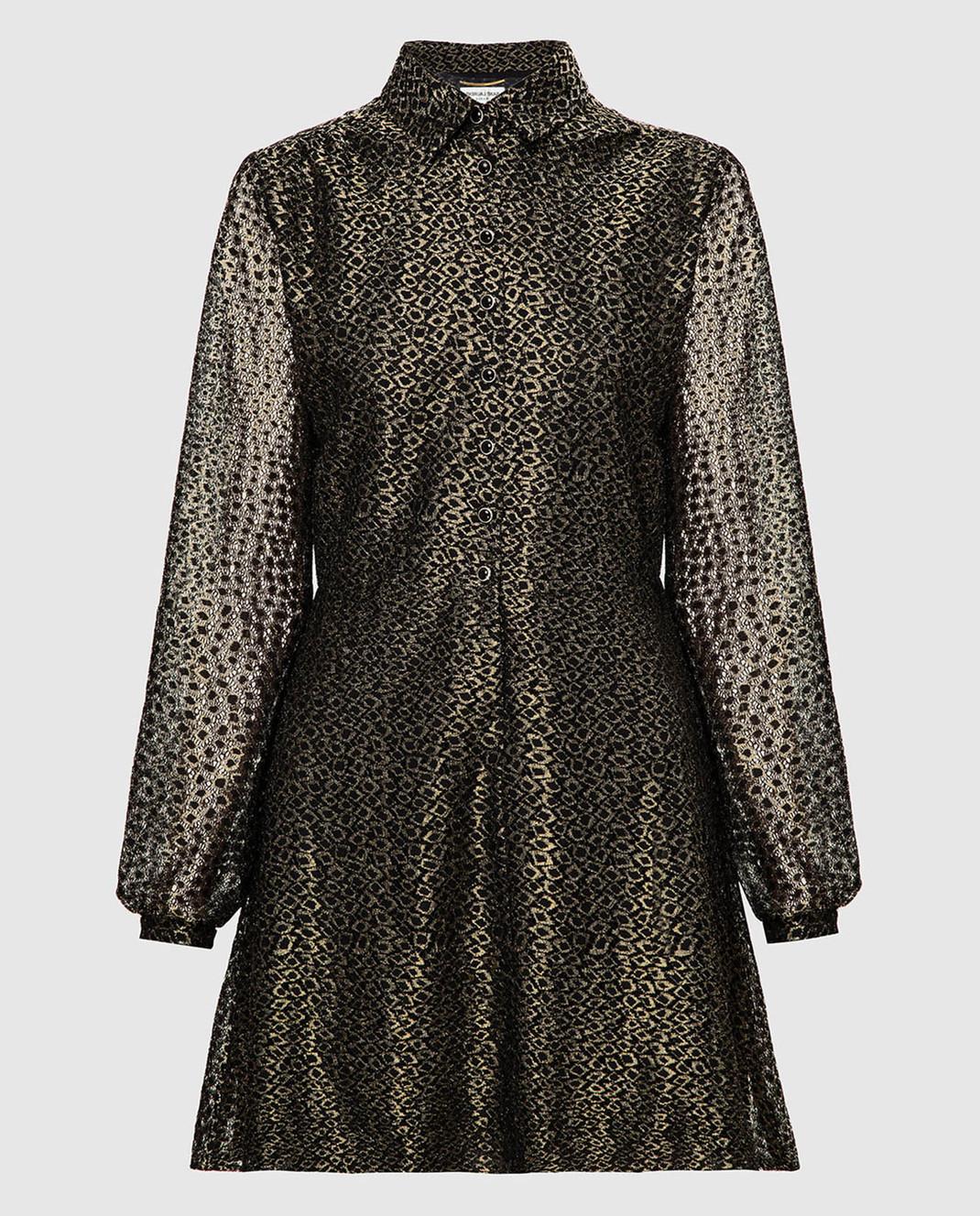 Saint Laurent Золотистое платье изображение 1