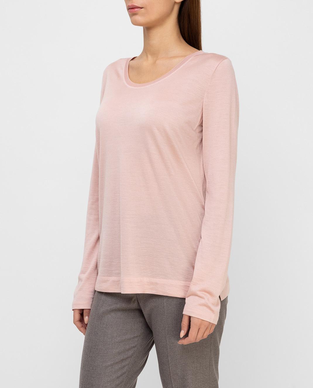 Loro Piana Розовый джемпер из кашемира и шелка F2FAE5730 изображение 3