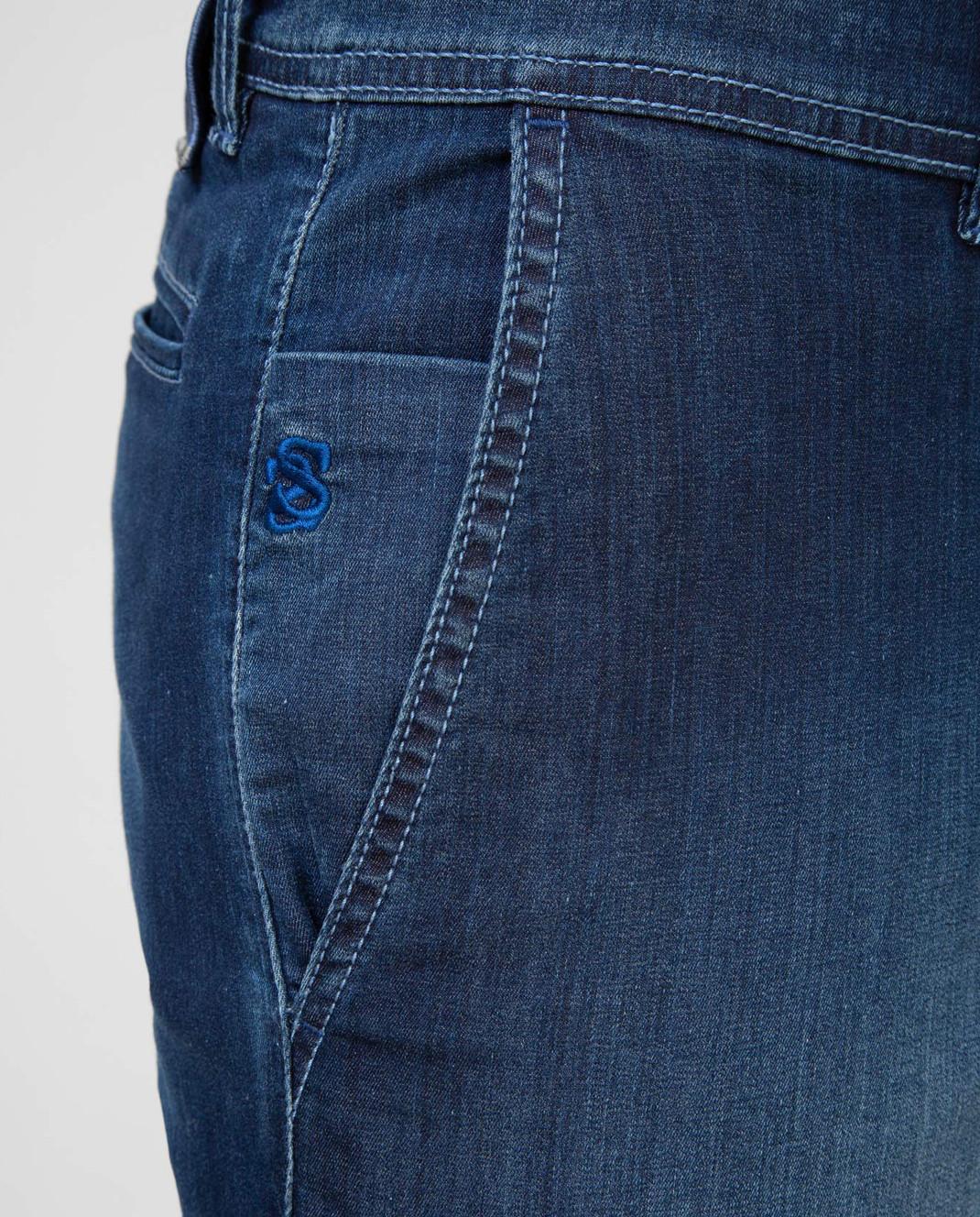 Scissor Scriptor Темно-синие шорты изображение 5