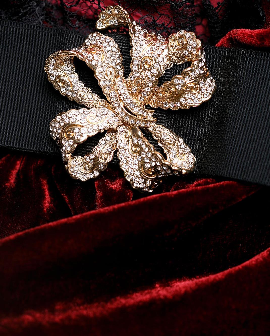 Dolce&Gabbana Бордовое платье F66E1ZFUVH9 изображение 5