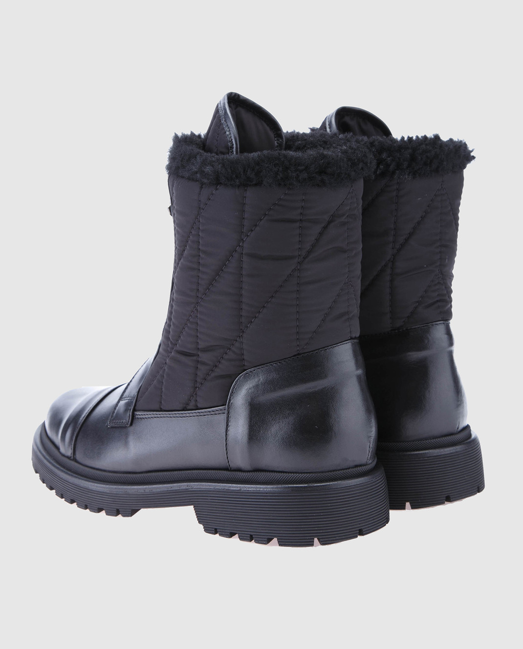 Moncler Черные кожаные ботинки 20314 изображение 3