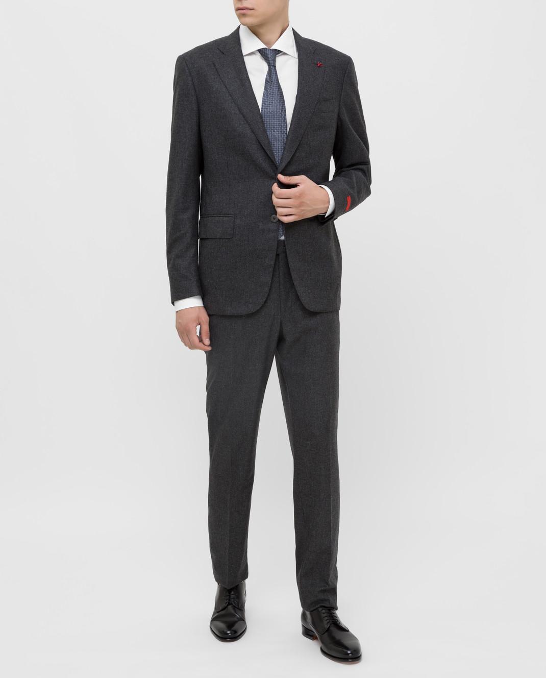 ISAIA Серый костюм из шерсти и кашемира 224ASI89681 изображение 2