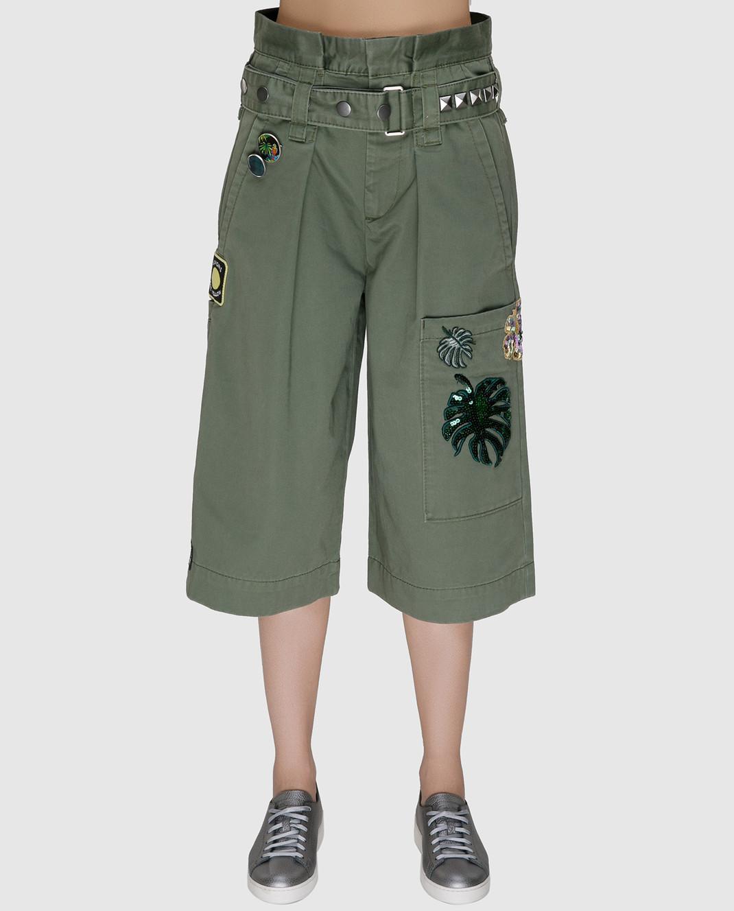 Marc Jacobs Зеленые шорты со съемным ремнем M4006493 изображение 3