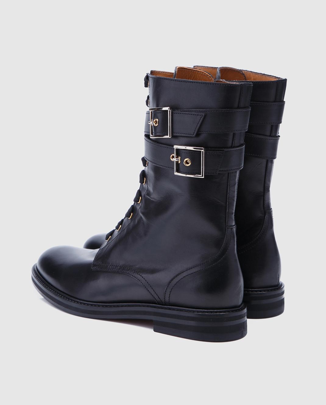 Doucal's Черные кожаные ботинки DD8260SOFIUF063 изображение 3